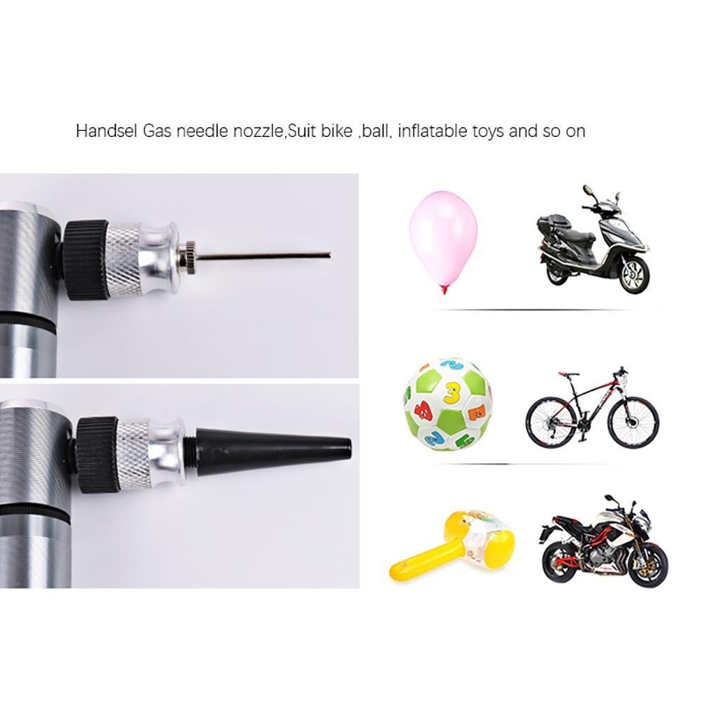 Leegoal Mini Bomba de Bicicleta Carretera Bola Bomba de neum/ático de Bicicleta Bomba de Mano para Globo luz Port/átil Micro Bomba para V/álvula Presta /& Schrader Monta/ña y Bicicletas BMX