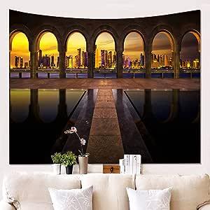 xkjymx Paño de la Pared del Edificio paño de Tela de Fondo tapicería Colgante W180523-G021: Amazon.es: Hogar