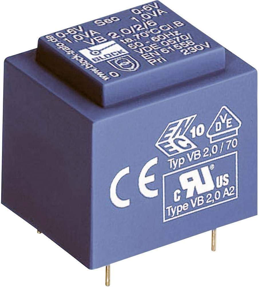Block Transformateur pour Circuits imprim/és VB 3,2//2//12 1 x 230 V 2 x 12 V//AC 3.2 VA 133 mA 1 pc s