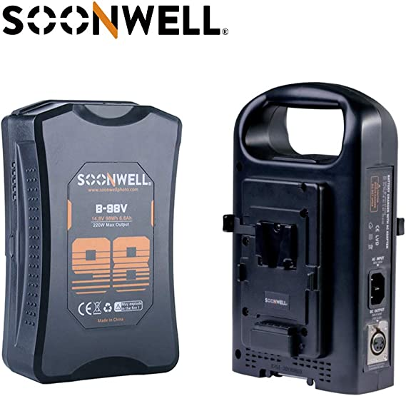 SOONWELL 2-Channel V-Mount Charger V Lock Power Supply Charger Camcorder V Mount BP Battery Charger with XLR Output