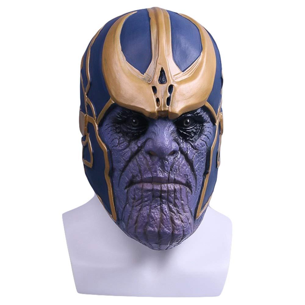 Hope Avengers 3 Thanos Maschera Fancy Dress Costume Cosplay Maschere in Lattice Prom Halloween Masquerade Ball Party Mask per Bambini Adulti,blu-OneDimensione