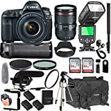 Canon EOS 5D Mark IV With 24-105mm f/4 L IS II USM Lens + 128GB Memory + Canon Deluxe Camera Bag + Pro Battery Bundle + Power Grip + Microphone + TTL Speed Light + Pro Filters,(23pc Bunle)