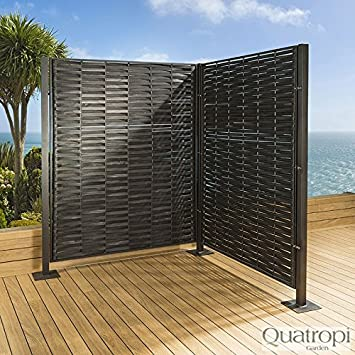 Luxe de jardin/patio en rotin Écran/partiton/clôture/mur noir ...