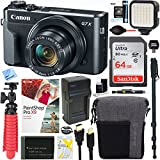 Canon PowerShot G7 X Mark II 20.1MP 4.2x Optical Zoom Digital Camera + 64GB SDXC Card and Deluxe Accessory Bundle