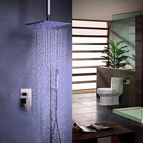 16inches brushed nickel LED shower head - 5