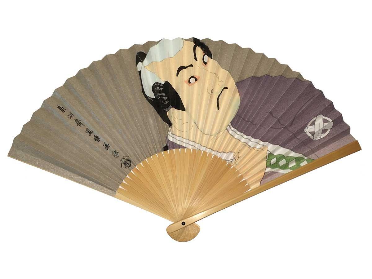 Japanese Sensu(Folding Fan) SHARAKU WASHIZUKA YAHAPPEIJI by Kyoto Japanese Fan