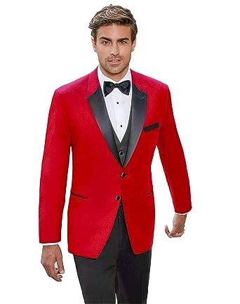 Classic Mens Tailored Slim Fit Tuxedo 3 Pieces Elegant Groom