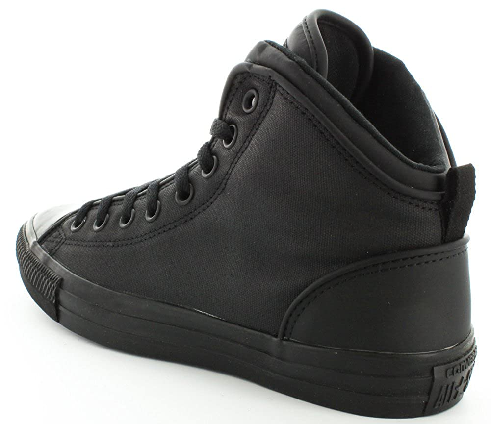 7538d1c130e1 Converse Mens Chuck Taylor Static Hi Black Sneaker - 10.5 Men - 12.5 Women   Amazon.co.uk  Shoes   Bags