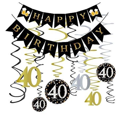 Omgouue Kit de decoración para Fiesta de 40 cumpleaños ...