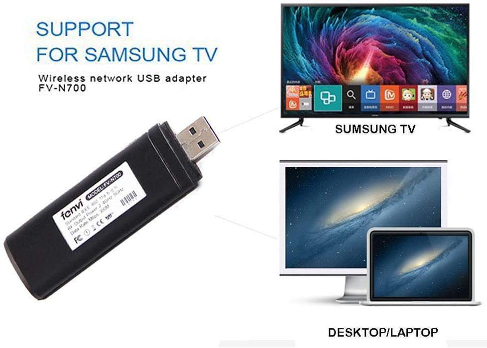ZUKABMW - Adaptador inalámbrico USB para TV 802.11ac 2.4 GHz y 5 GHz de Doble Banda de Red inalámbrica USB WiFi Adaptador para Samsung Smart TV