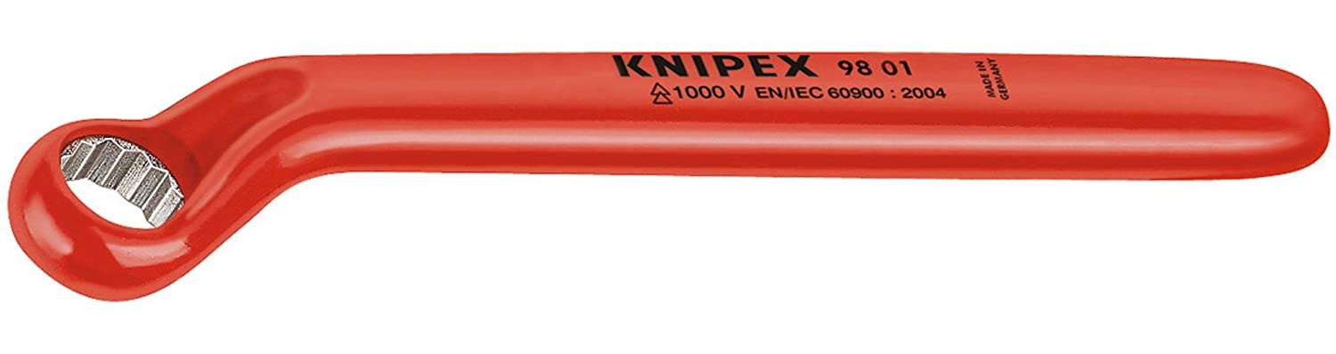 KNIPEX 98 01 10 1,000V Insulated 10 mm Offset Box Wrench Knipex Tools LP