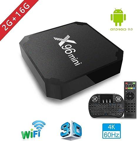 2018 Android TV Box, X96 Mini Smart TV Box con Mini Teclado ...