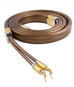 SKW OCC Ficha del cable altavoz audio subwoofer Gold Line cuivre banane head y Hifi Audio