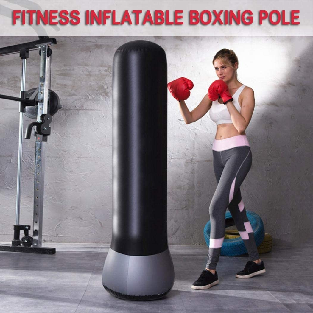 Ongmies Inflatable PVC Boxing Tower for Kids//Adult Fitness Punching Bag Children Sandbags Fitness Training Boxing Target Bag for Children Teens