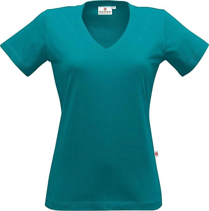 "HAKRO Damen V-Shirt ""Classic"" - 126 - smaragd - Größe: XL"