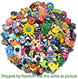 Bokcharms 100 Pcs Random Shoe Charms Fit Croc shoes & Wristband Bracelet Party Kids Gifts