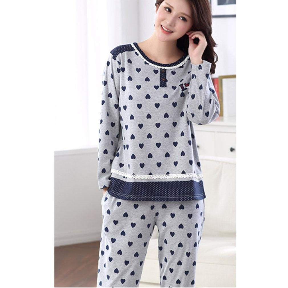MOXIN Otoño e Invierno pijamas para señoras Set de mangas largas Lattice Home Service ?s-xxxxl? , xl , A: Amazon.es: Hogar