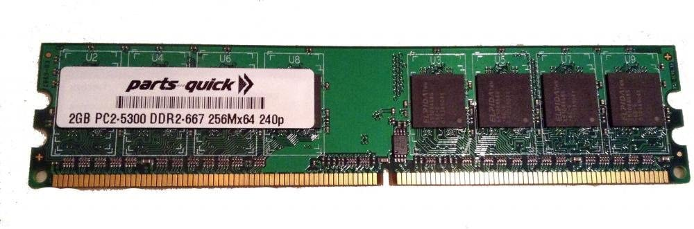 PARTS-QUICK Brand 2GB Memory for ASUS P5 Motherboard P5B-E Plus DDR2 PC2-5300 667MHz DIMM Non-ECC RAM Upgrade