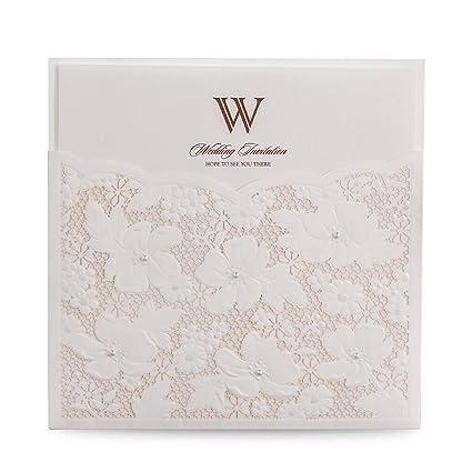 doris home wedding invitations with envelopes for bridal shower invitations dinner invitations laser cut flower