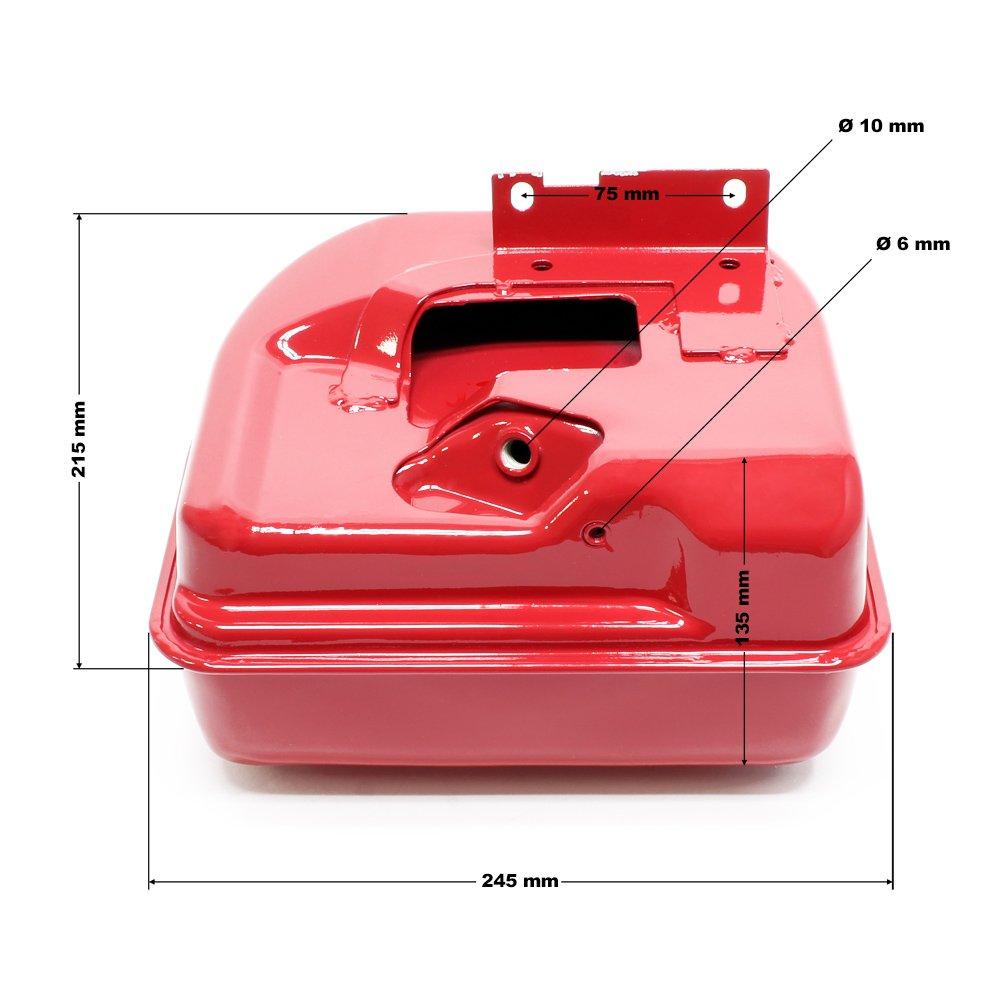 WilTec Pi/èce d/étach/ée Rouge Reservoir dessence Moteur /à Essence 6.5 CV