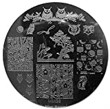 MESSY MANSION MM38 Nail Art Stamping Plate - Owls