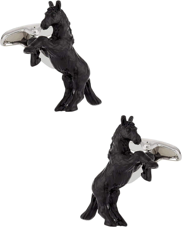 Safari Cuff-Daddy Bucking Bronco Horse Cufflinks Hand Painted with Presentation Box