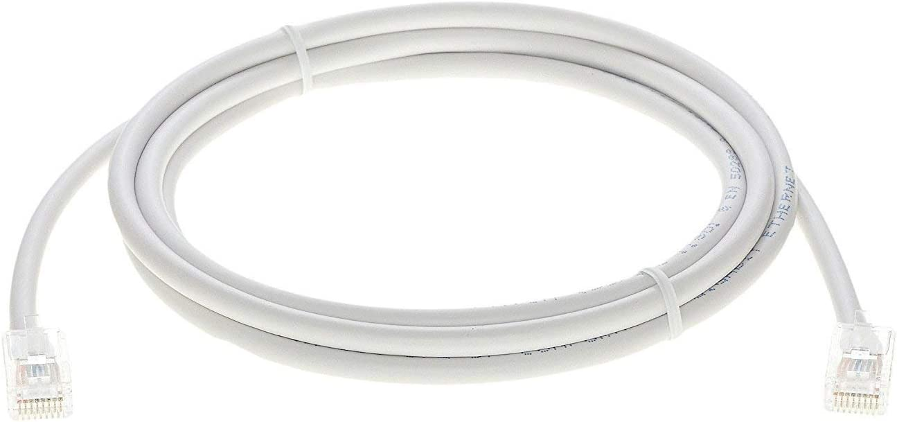 InstallerParts 100 Pack Ethernet Cable CAT6 Cable UTP Non-Booted 0.5 FT - White - Professional Series - 10Gigabit//Sec Network//High Speed Internet Cable, 550MHZ