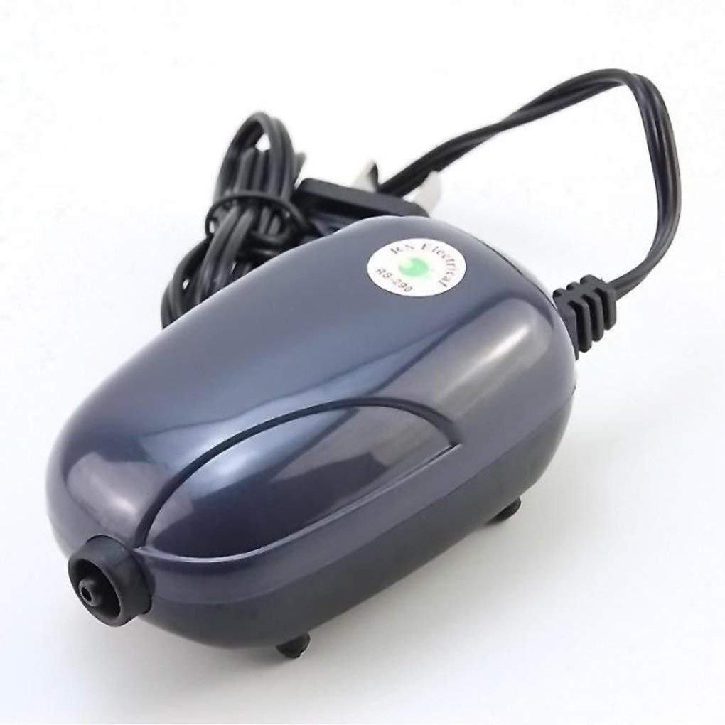 lidahaotin Mini Silencieux Pompe à air Pompe à Oxygène Puissant 220V Aquarium Pompe Compresseur Poisson Tortue Réservoir Réduction du Bruit