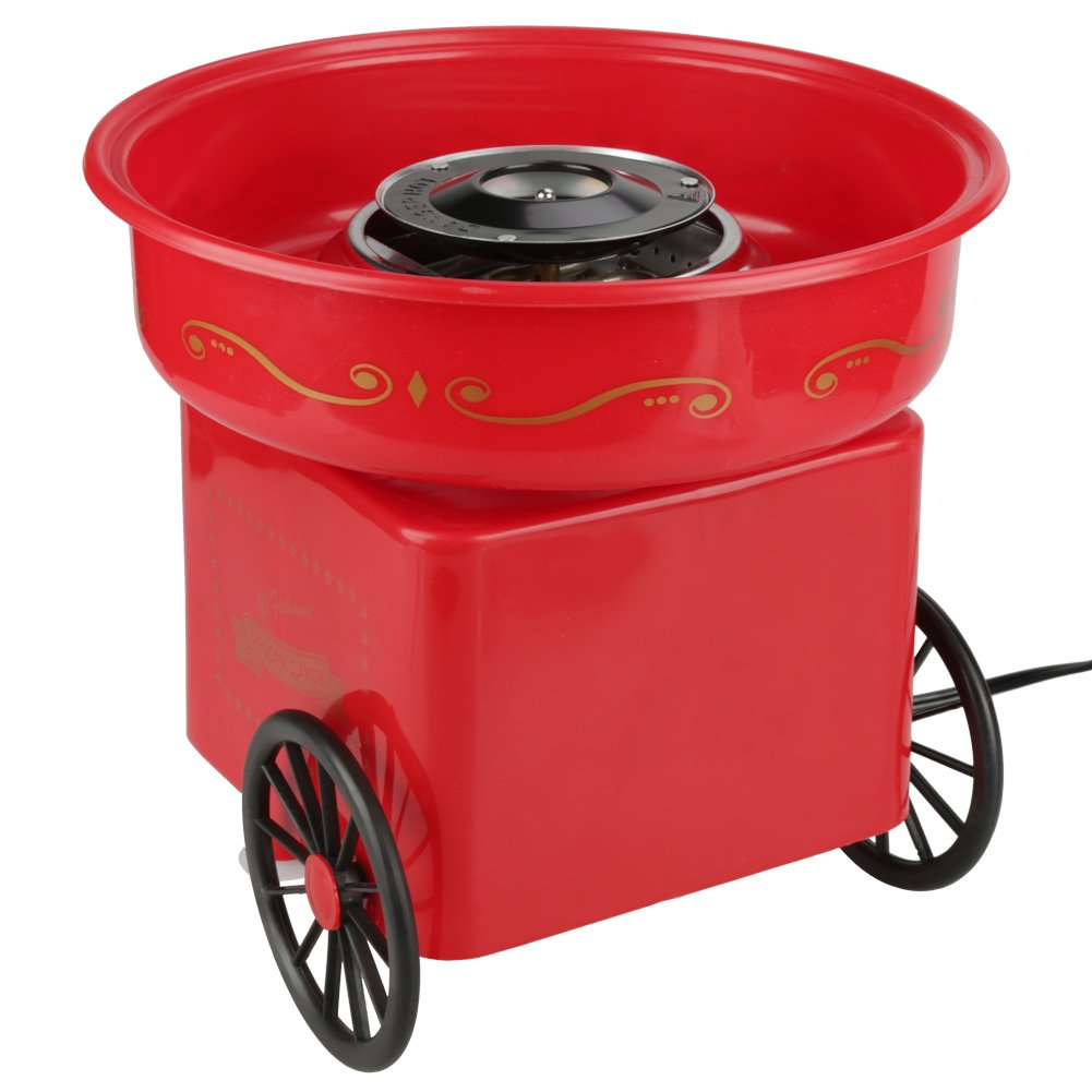 Electric Candy Floss Making Machine Cotton Sugar Candy Floss Maker Commercial Homemade Candy Machine - Red(110V US Plug) by Wal front (Image #4)
