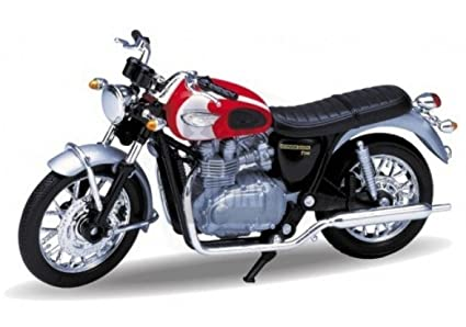 Amazoncom Welly 2002 Triumph Bonneville T100 118 Scale Model