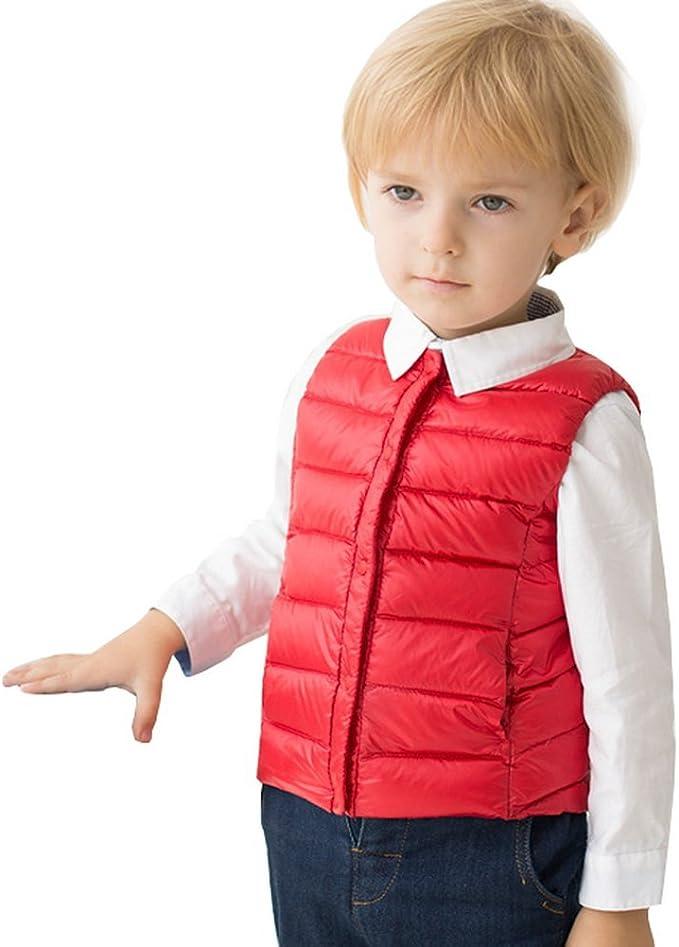 Junyue Baby Boys Girls Cute Bear Lightweight Puffer Vest 18Month to 7T