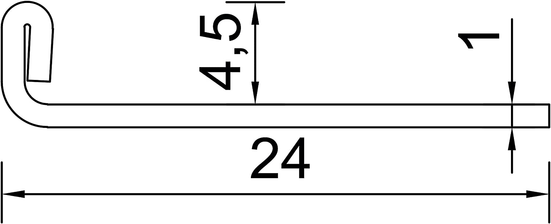 H/öhe: 4,5mm PREMIUM FUCHS Fliesenschiene Winkelprofil Edelstahl V2A Gl/änzend 2,5 METER kein Verdrehen m/öglich 250cm Schiene 1mm St/ärke