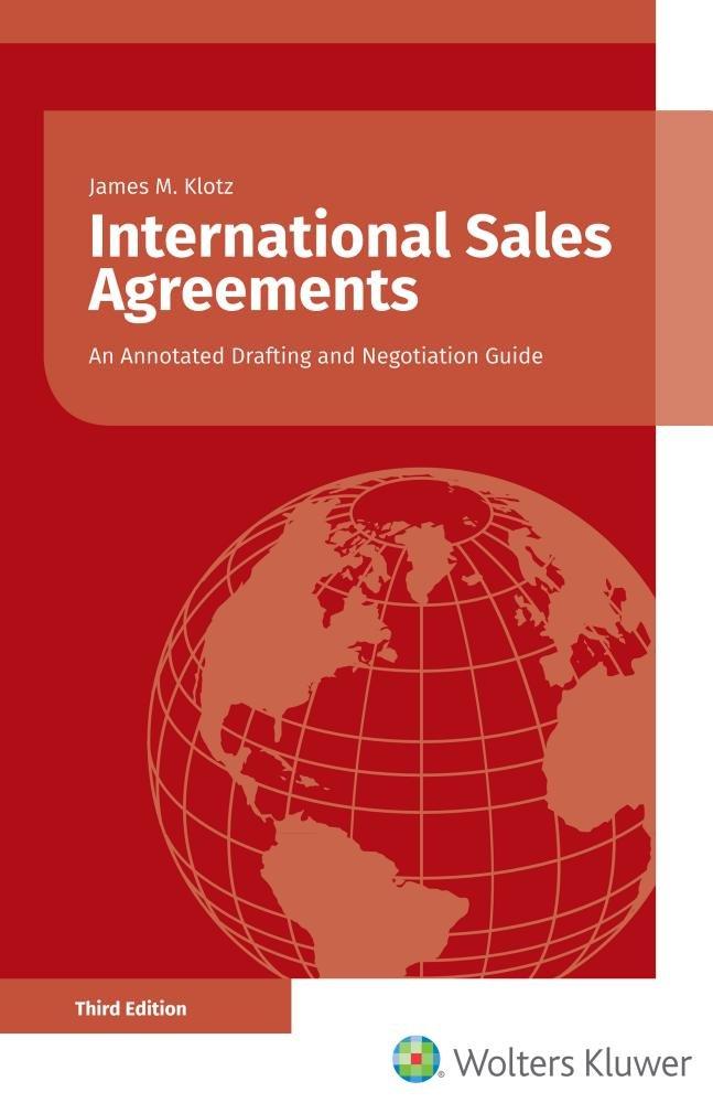 International Sales Agreements James M Klotz 9789403500904 Books