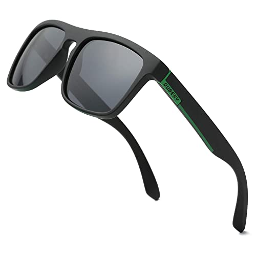 973fec5c4 DUBERY Polarized Sunglasses Classic 100% UV Protection Reflective Color Mirror  Large Square for Men&Women-
