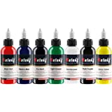 Solong Tattoo Ink Professional Ink Set High Quality 1 OZ 7 Basic Pigment Colors TI302-30-7W