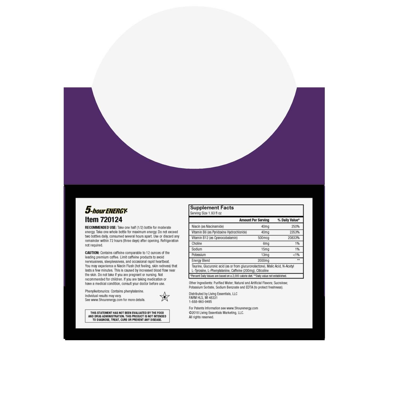 5-hour ENERGY Shot, Extra Strength Grape, 1.93 oz, 24 Count by 5-Hour Energy (Image #4)
