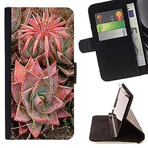 BLOSSOMING FLOWER PLANT CACTUS DESERT/ Personalizada del estilo del dise???¡Ào de la PU Caso de encargo del cuero del tir????n del soporte d - Cao - For Samsung ALPHA G850
