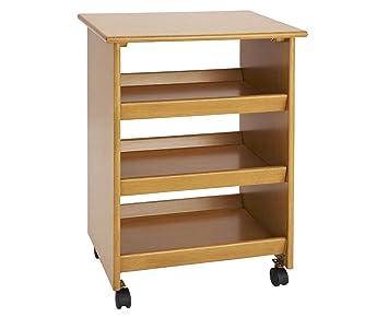 mesa auxiliar de almacenamiento Multi Propósito Isla de cocina con ruedas sala de estar muebles de madera.: Amazon.es: Hogar