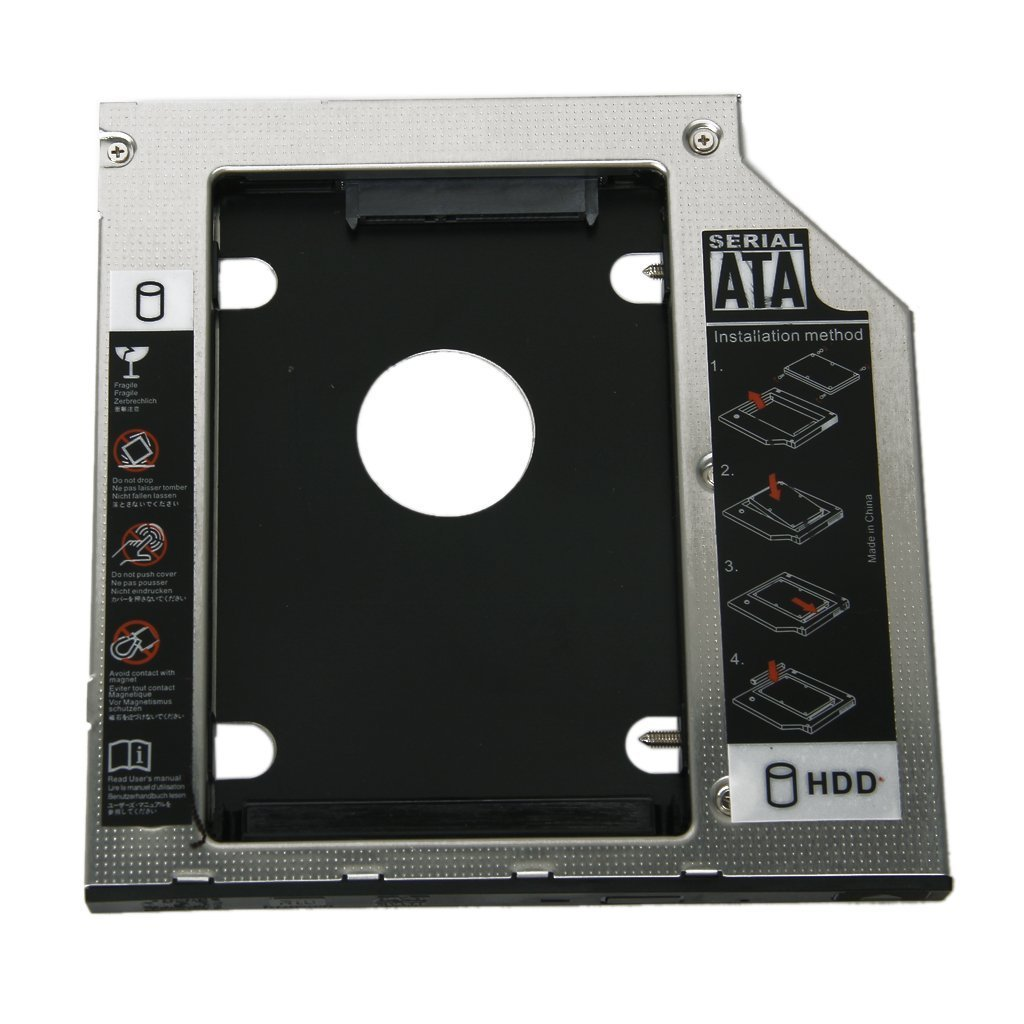 Huihuger Practical Replacement Universal 9.5mm SATA to SATA 2nd HDD Hard Drive Caddy