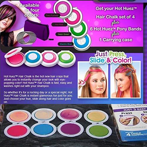 KOKOBUY 1PCS Women Kids Temporary Hair Color Powder Dye Wash Out Chalk Hair DIY Party Hair Dye