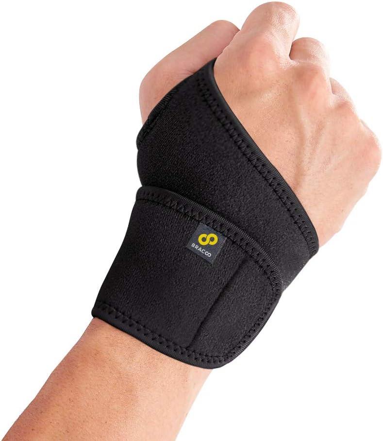 Bracoo WS10 I muñequera de neopreno versátil, totalmente ajustable, para dolor, esguinces, distensiones, inestabilidad articular, tendinitis de muñeca, mano derecha e izquierda