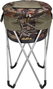 Travelwell 48 Cans Party Camo Collapsible Barrel Party Beverage Cooler with Stand