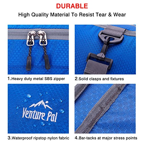 Venture Pal Packable Sports Gym Bag with Wet Pocket & Shoes Compartment Travel Duffel Bag for Men and Women-Royal Blue by Venture Pal (Image #6)