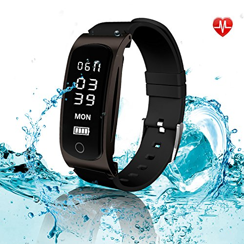 HYON Fitness Tracker, Fitness Watch, Activity Tracker with Heart Rate Monitor, Step Counter Pedometer Watch, Sleep Monitor, Waterproof Bluetooth Wristband (Pull Out Single Step)