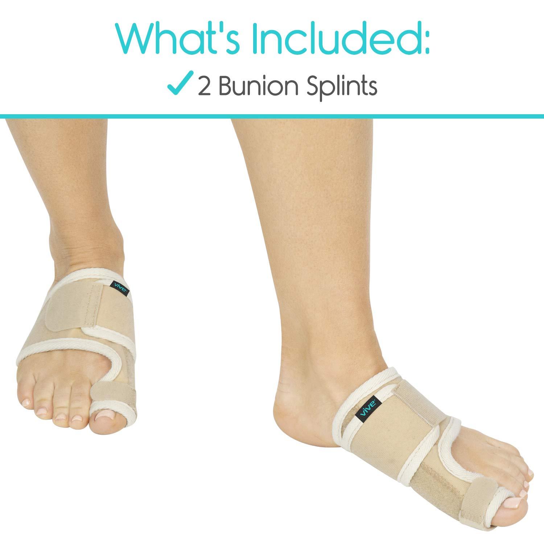 e6525531 Amazon.com: Vive Bunion Brace (Pair) - Big Toe Corrector Straightener with  Splint - Hallux Valgus Pad, Joint Pain Relief, Alignment Treatment -  Orthopedic ...
