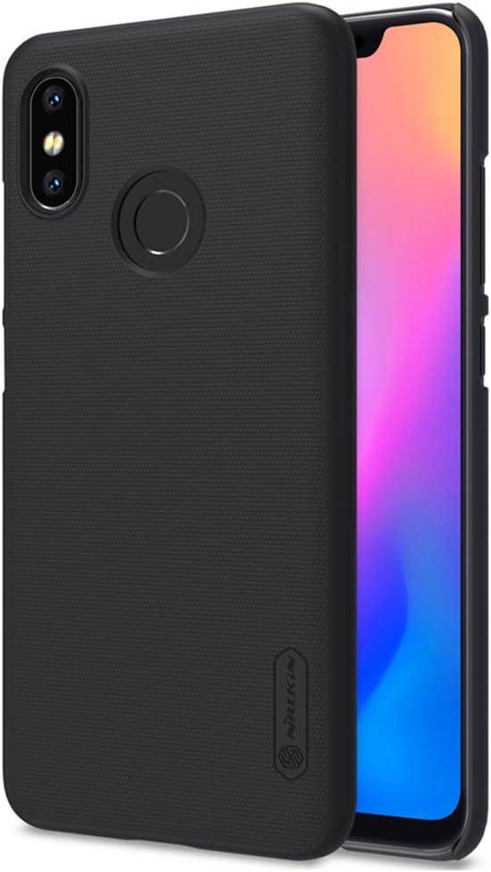 Nillkin Funda Xiaomi Mi 8, PC Estuche rígido Ultrafino Funda Protectora Antideslizante/Antidesgaste - Protección Completa para Xiaomi Mi 8 - Negro