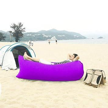 Nailon Impermeable segunda generación Fashion popular Lazy Hangout saco de dormir/Sofá/sofá cama de aire inflable para Camping, morado: Amazon.es: Deportes ...