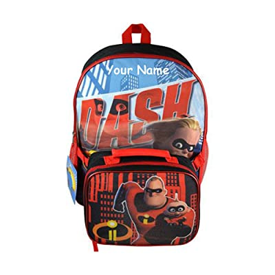 cheap Personalized Disney Pixar The Incredibles 2 Backpack Book and Lunchbox for Back to School - 2 Piece Set