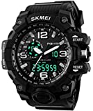 SKMEI Men's SK1155A Multifunctional Outdoor Sports Dual Time Analog Digital Wrist Watch Black