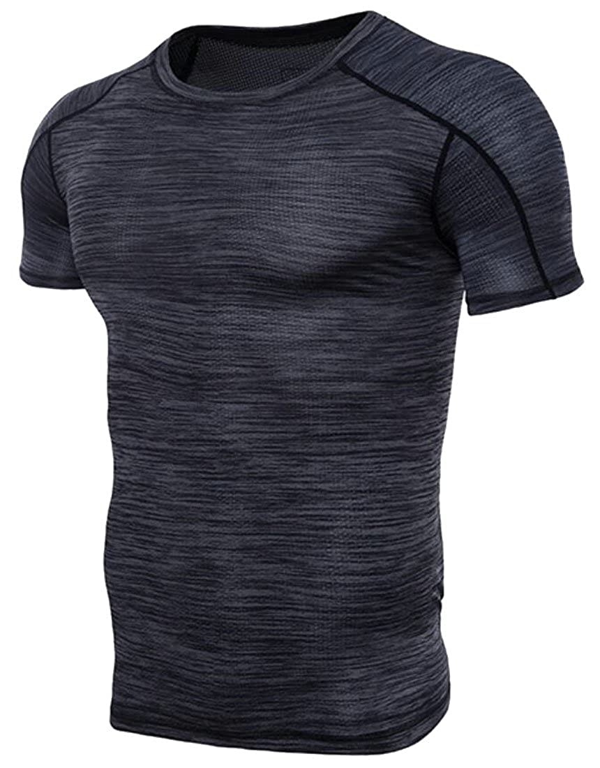 X-Future Mens Active Cool Dry Compression Training Workout Base Layer Top T-Shirt